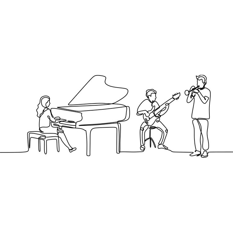 Concert Continuous Drawing