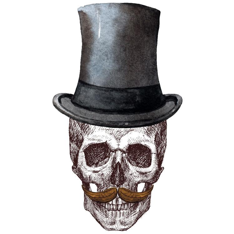 Mr. Mustache Skull