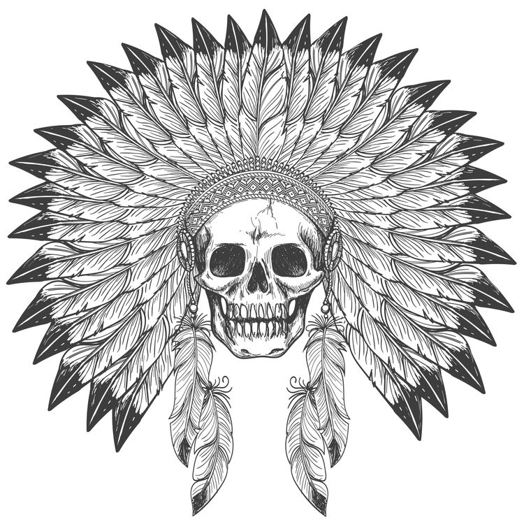 War Bonnet Skull