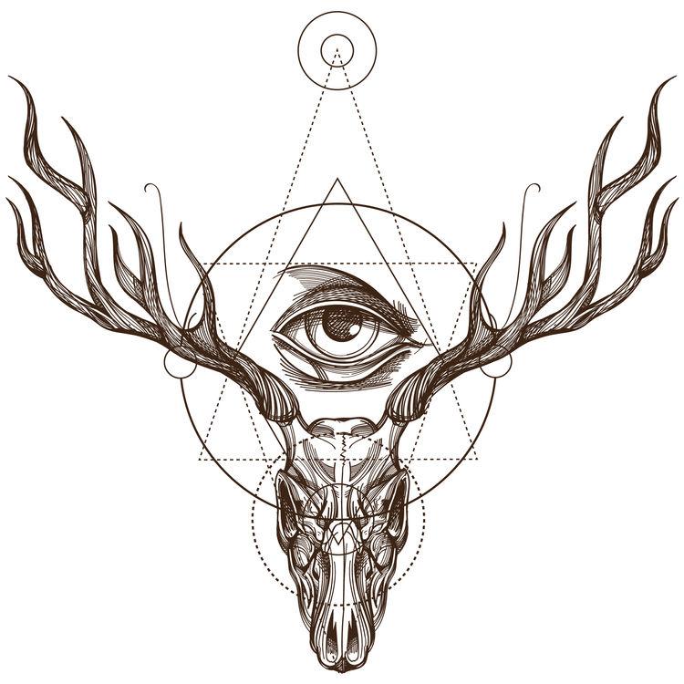 Geometric Deer Skull
