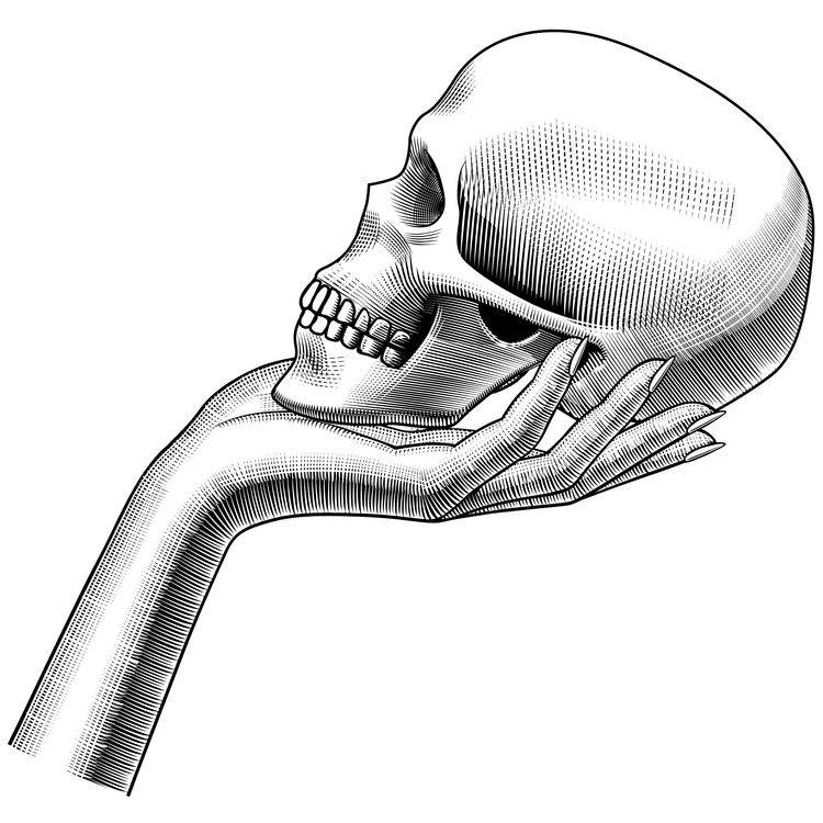 Hand Held Skull