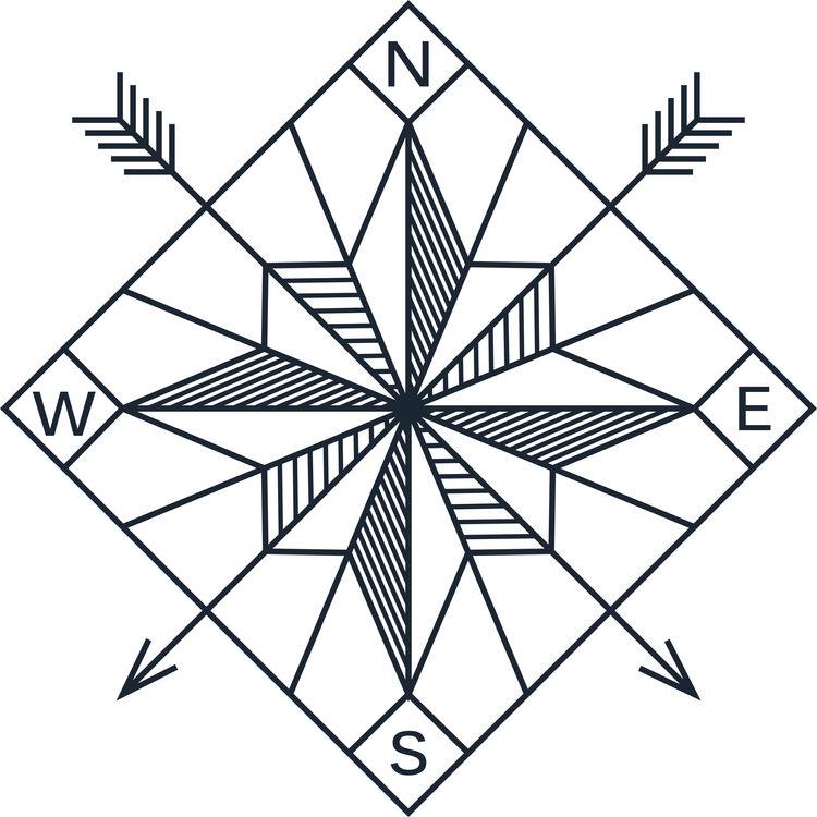 Bow and Arrow Compass