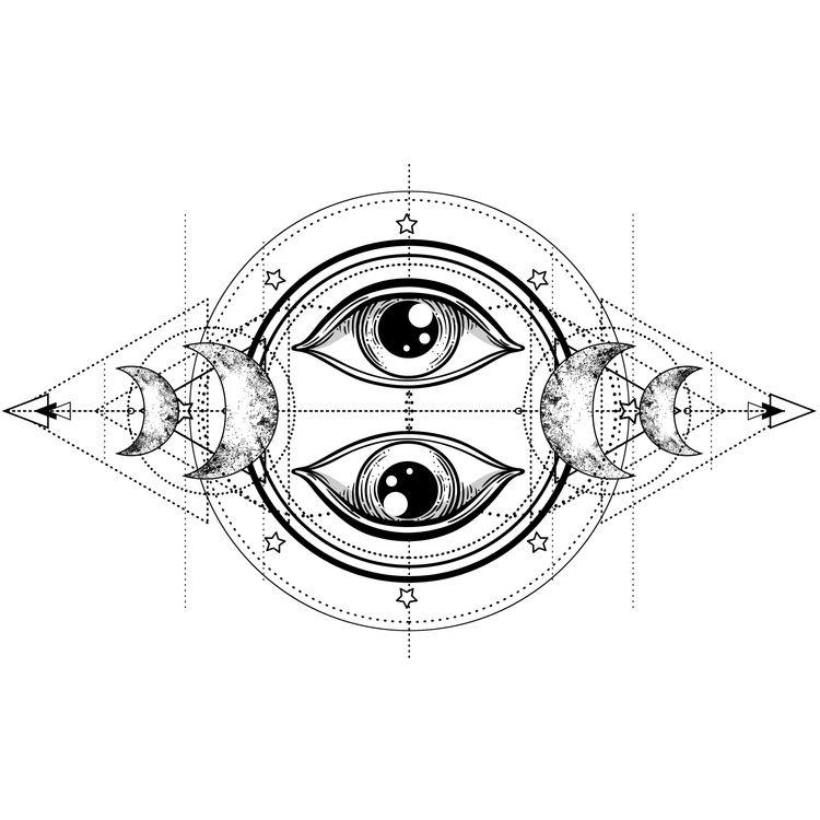 Geometric Moon Eyes
