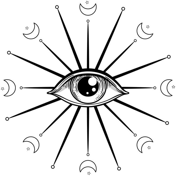 Feminine Eye and Moon