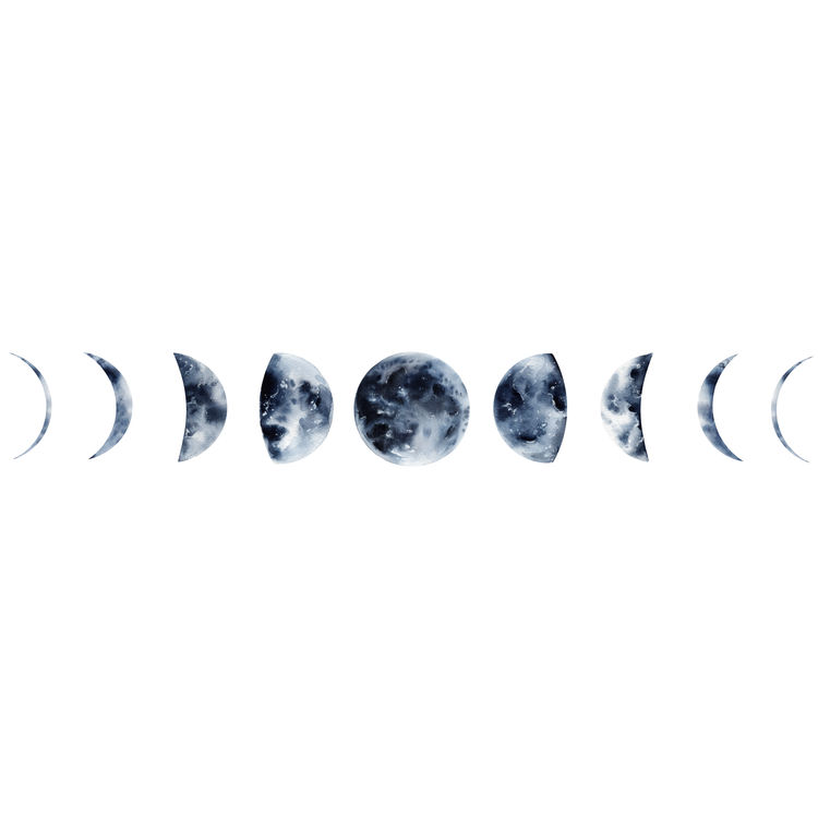 Blue Evolution of the Moon