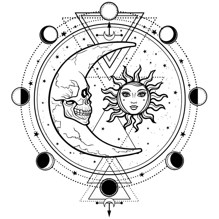 The Skull, Moon, and Sun