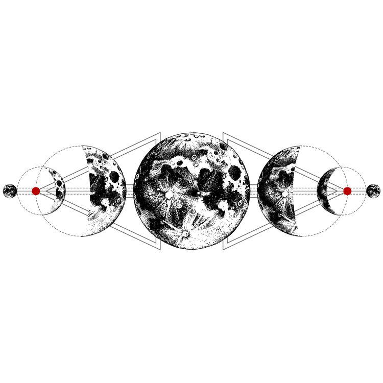 Geometric Moon Evolution