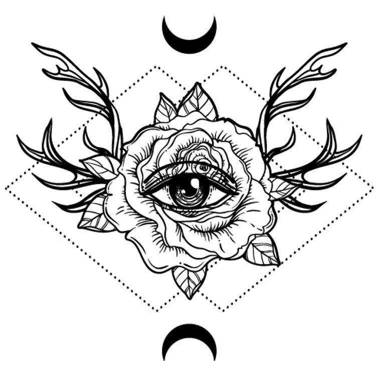 Rose Eye and Moon