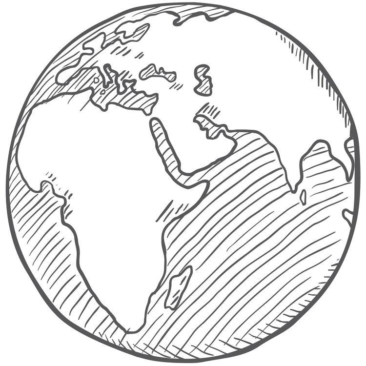 Planet Earth Sketch