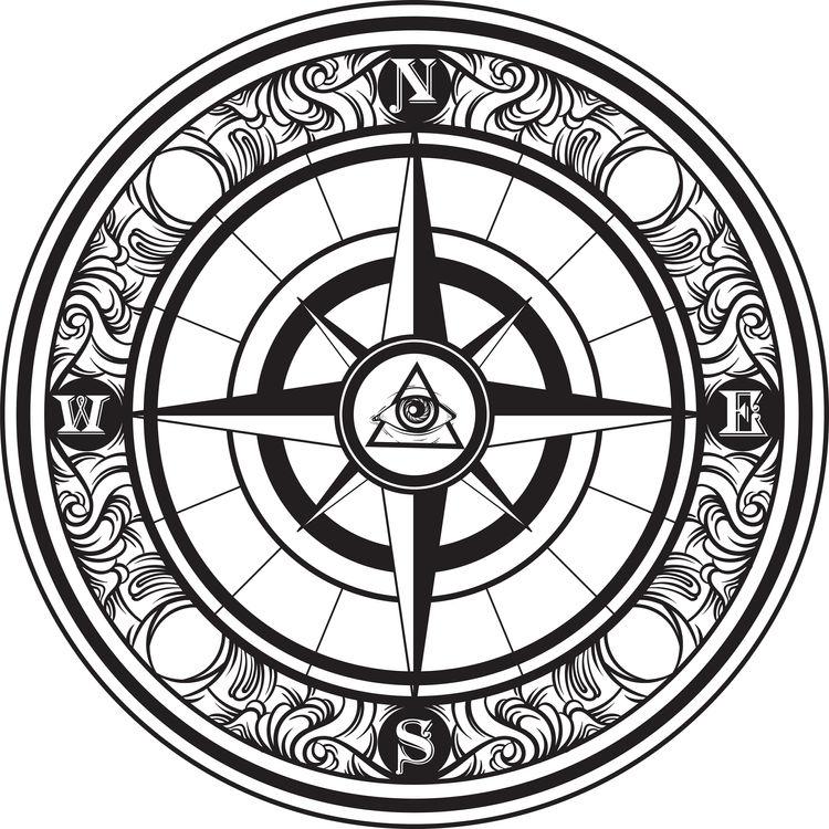 Vintage Eye of Providence Compass