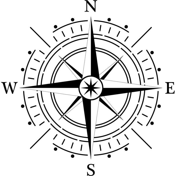 Minimal Vintage Compass