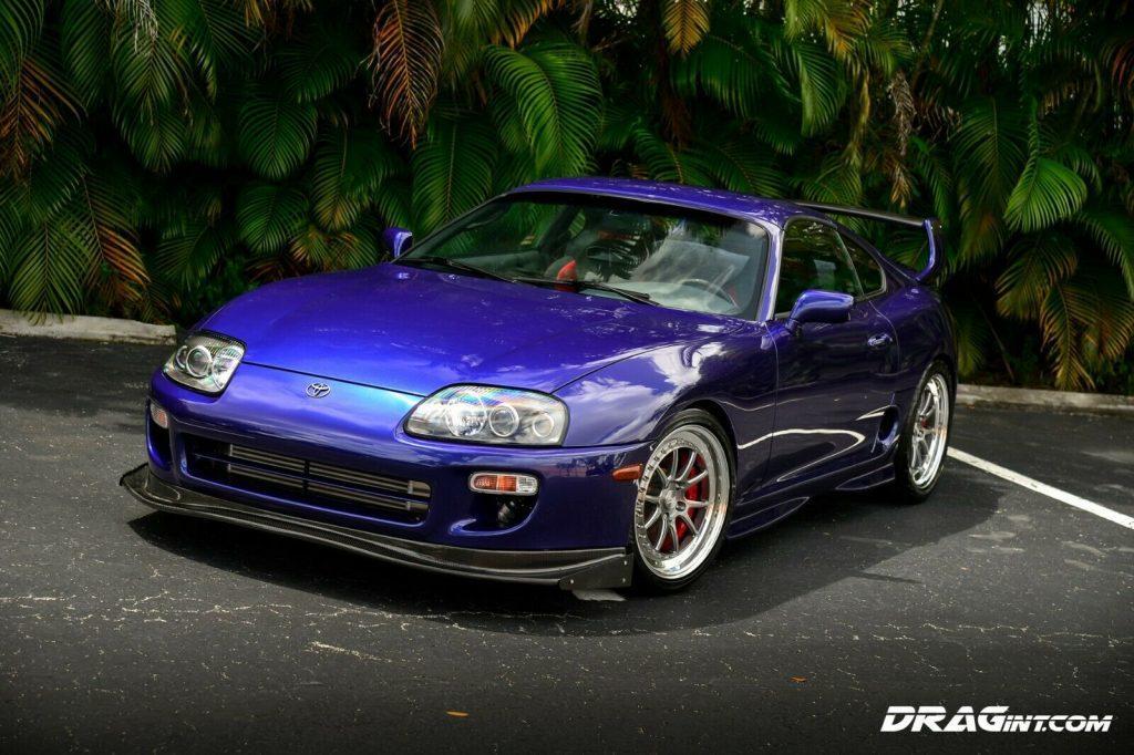 1995 Toyota Supra Turbo 6 Speed Sport Roof Blue 1427hp Hypertune CCW HRE Brembo