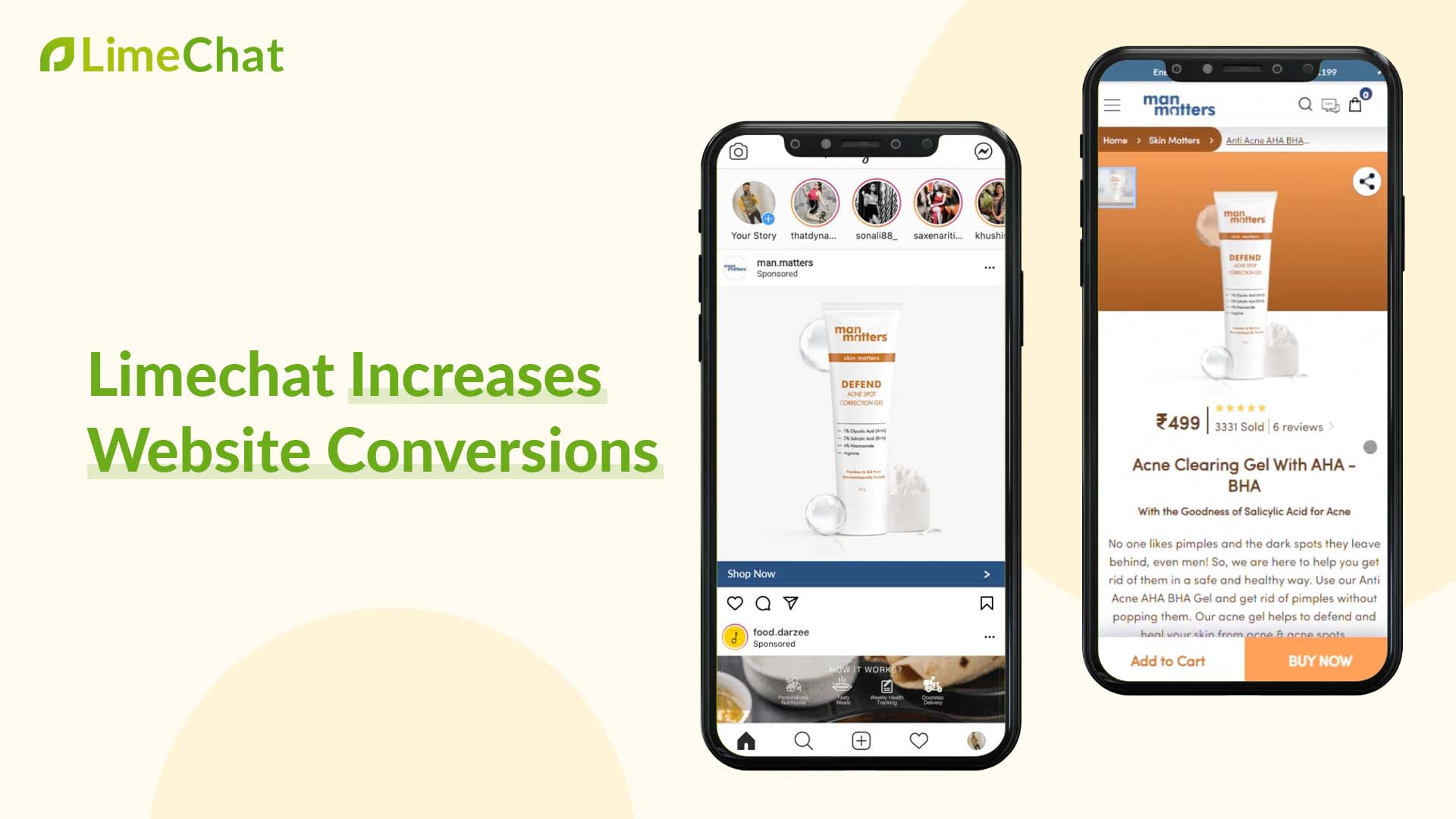 increase conversion rate with LimeChat