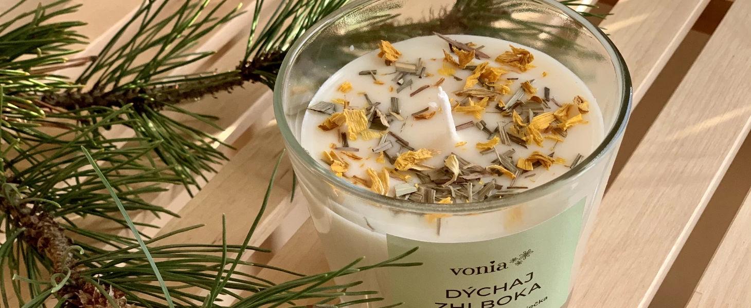 Ekologické bylinkové sviečky Vonia