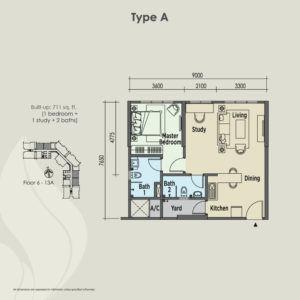 east parc floor plan type A