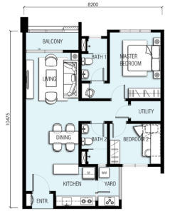 akasa cheras south floor plan type A