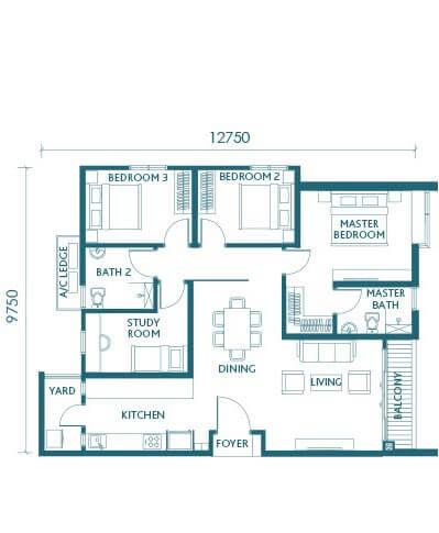 Sunway Serene Floor Plan Type E