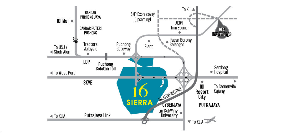 16 sierra puchong south location