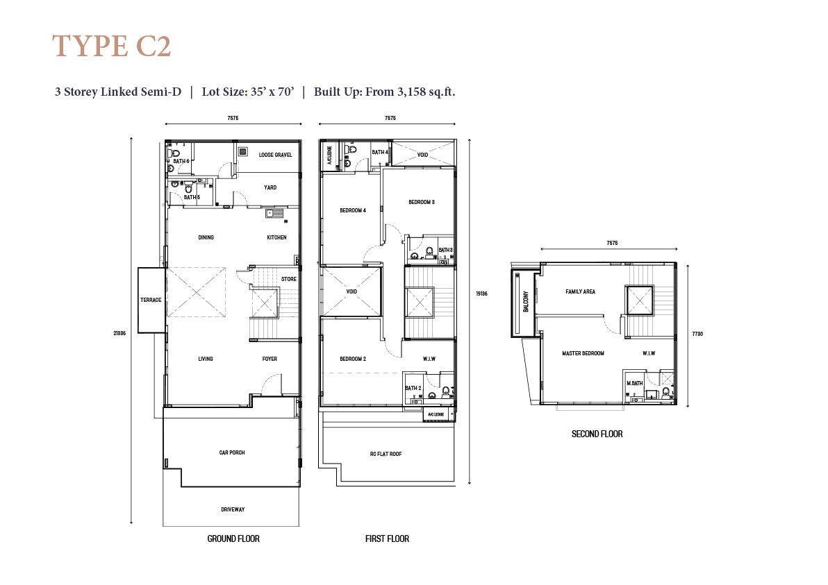 2.5 storey jovita floor plan