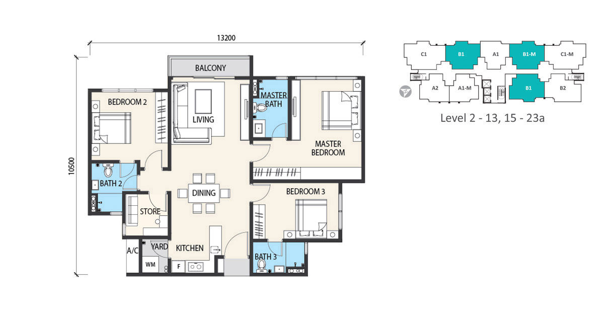 garden heights floor plan type b1