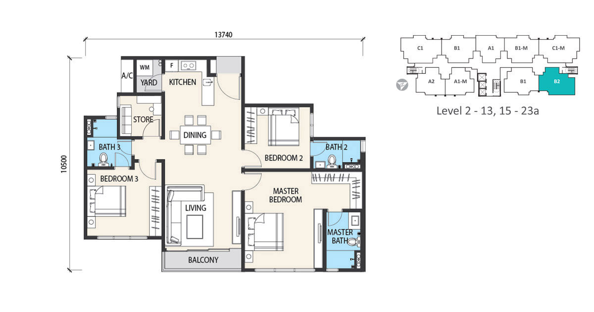 alstonia garden heights floor plan type b2