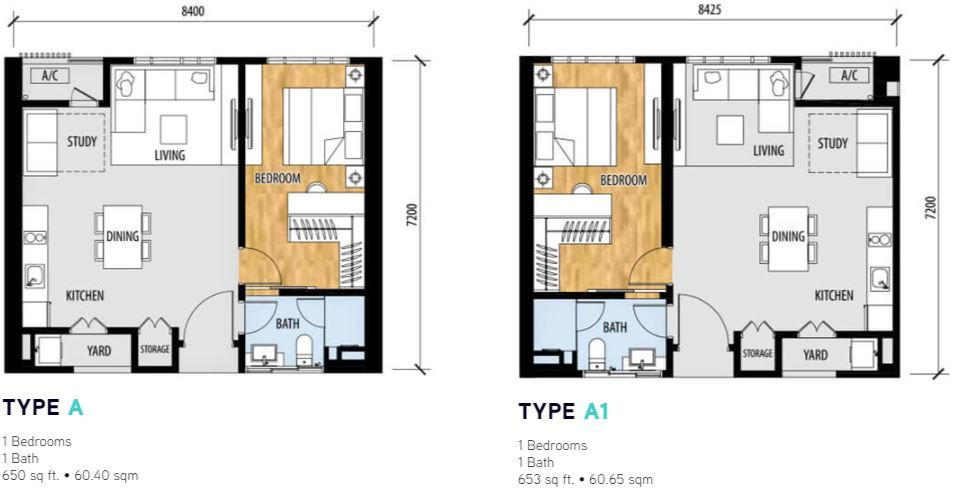 Sentral Suites Layout type a intermediate