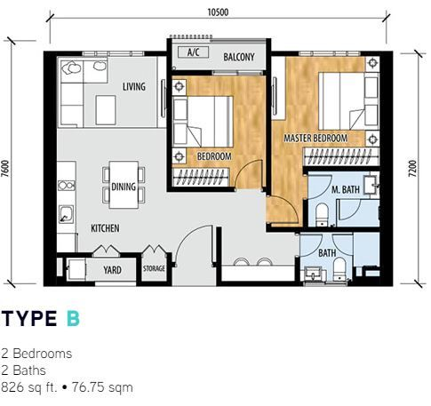 Sentral Suites Layout type b