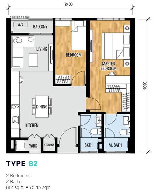 Sentral Suites Layout type b2
