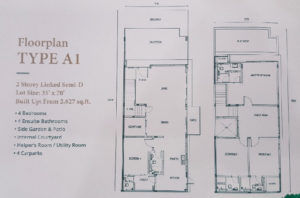 gamuda gardens jovita floor plan