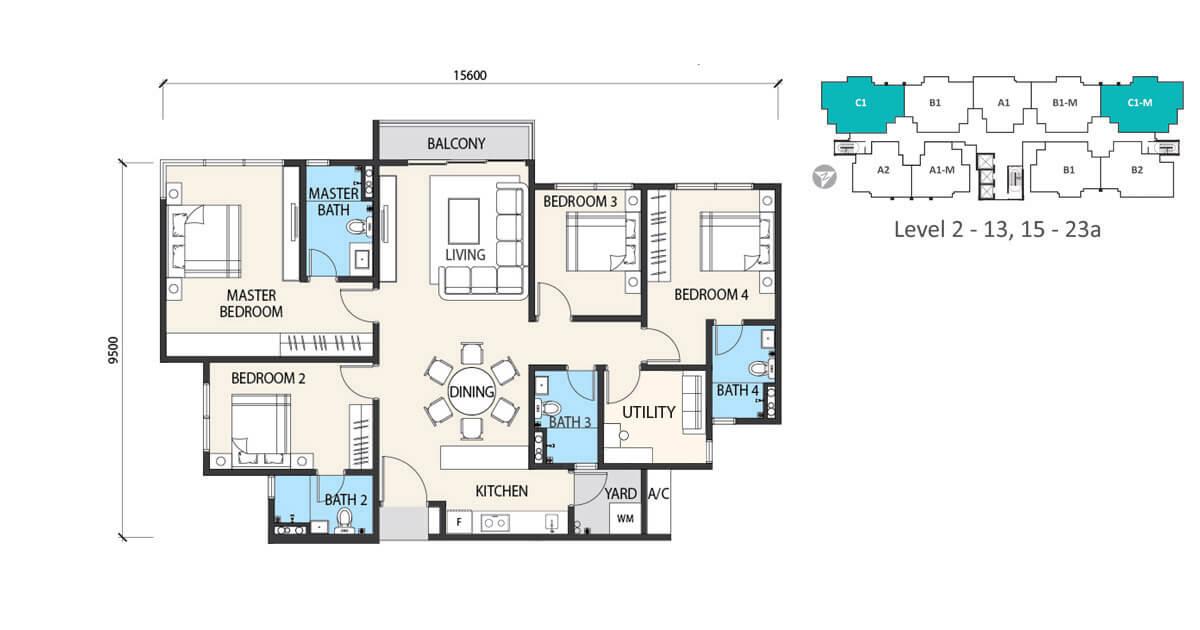 alstonia floor plan Type C1