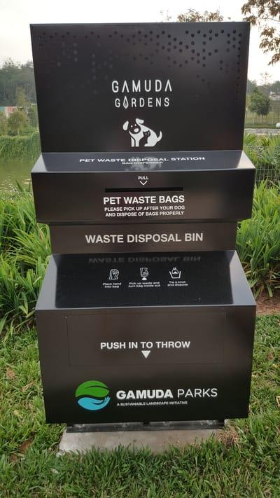 dog-friendly park at gamuda gardens