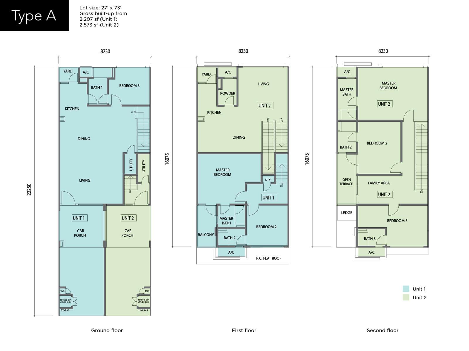 ndira townhouse floor plan