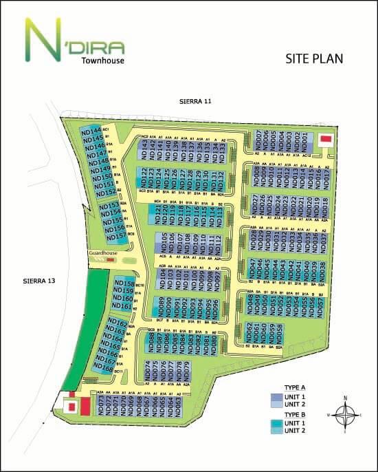 ndira townhouse site plan