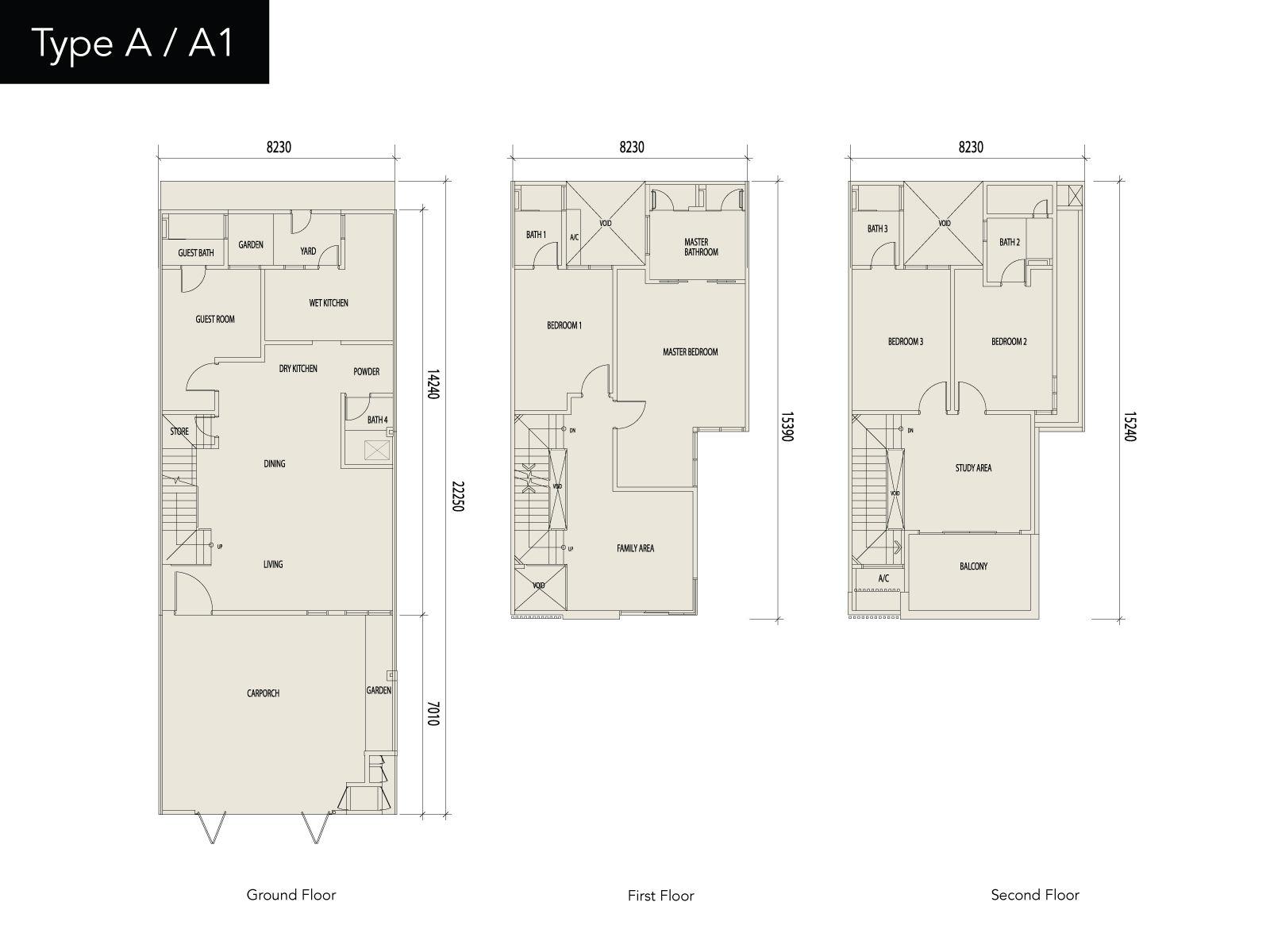 16 sierra sierra6 3 storey floor plan