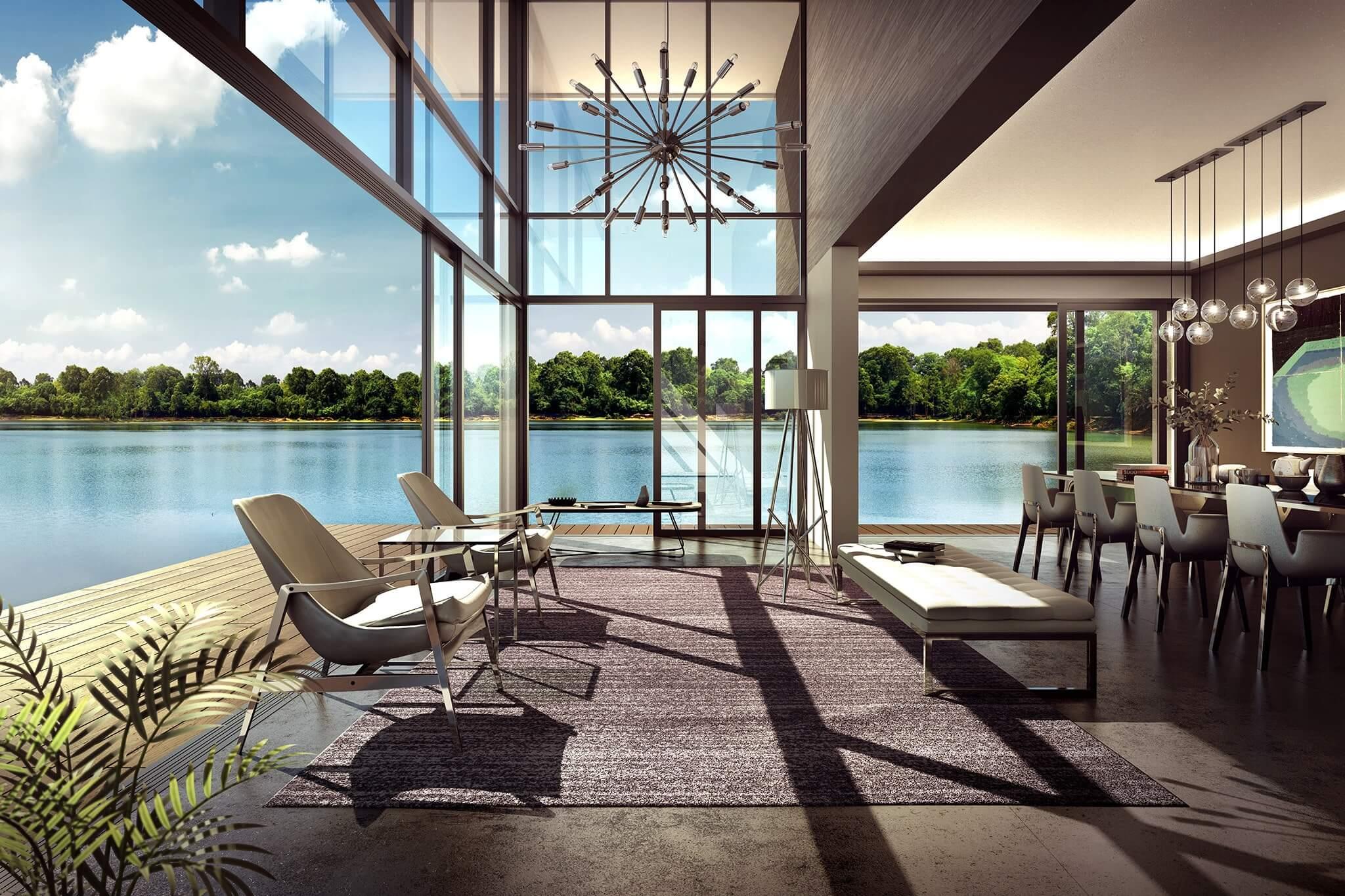 artist impression of bungalow waterfront estates