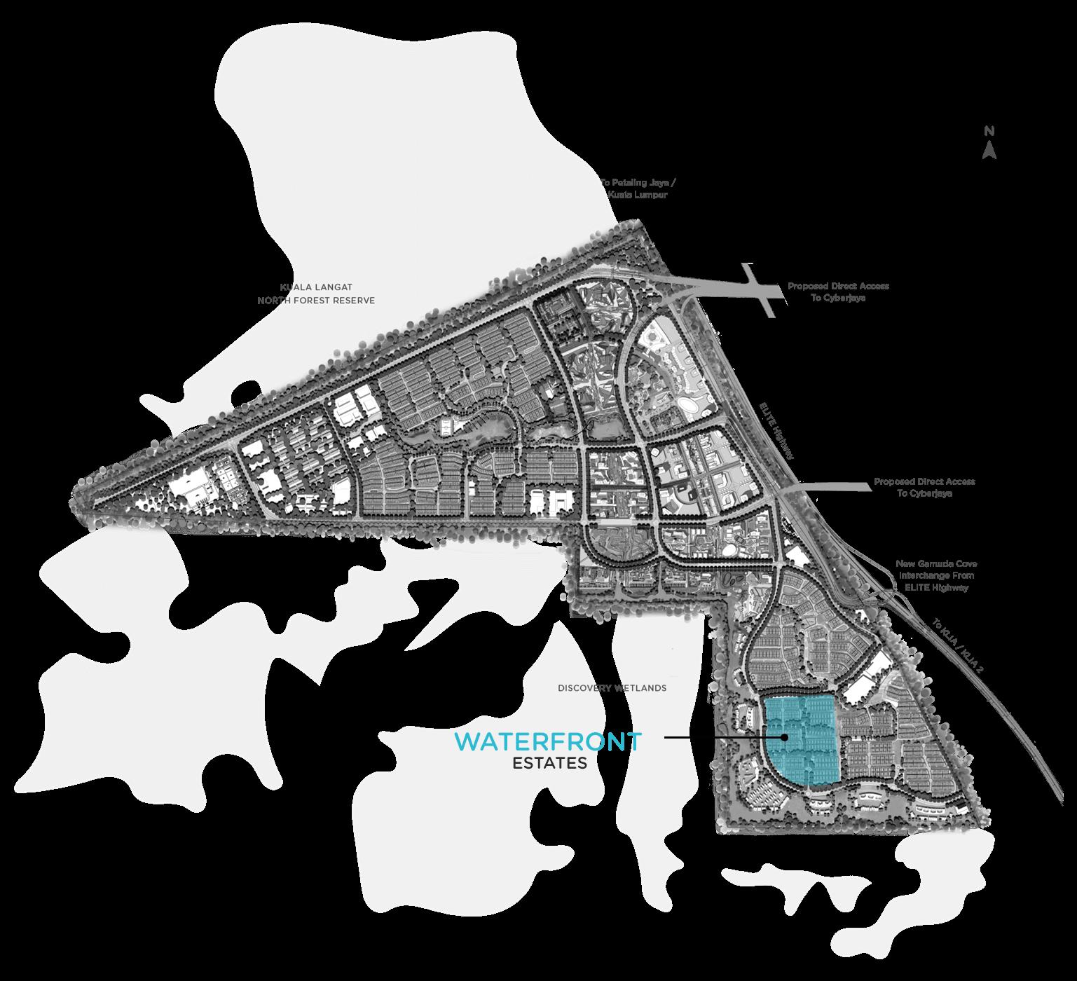 waterfront estates gamuda cove location