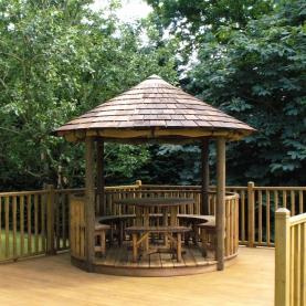 Oasis Breeze House with cedar shingle roof