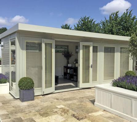 Hanley bespoke garden office by Malvern Garden Buildings