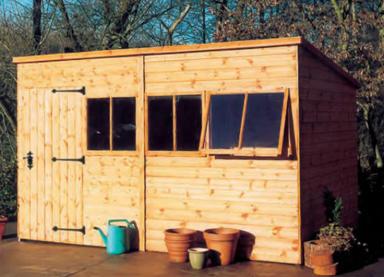 12' x 8' deal Malvern Pent with door front left