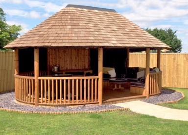 Exterior of the Oval Safari Breeze House