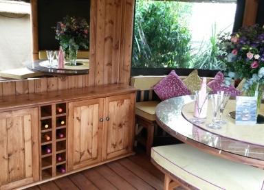 Interior of the Oval Safari Breeze House