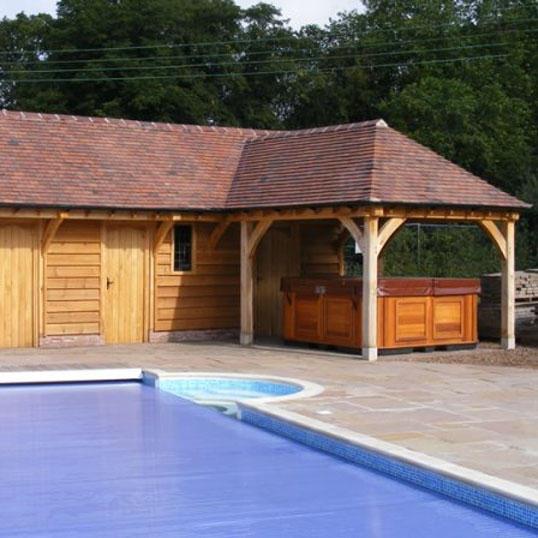 Oak Hot Tub Shelter