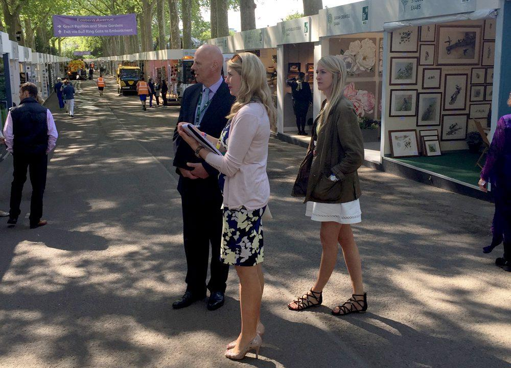 Assessing tradestands at RHS Chelsea 2016