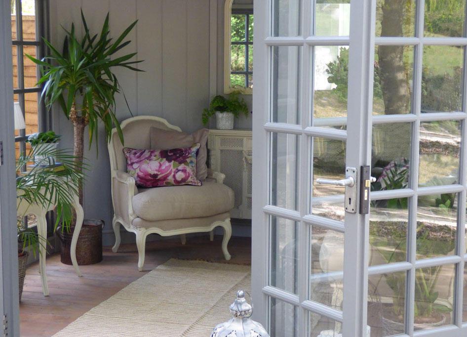 Looking through doors of Kew Imperial by Malvern Garden Buildings