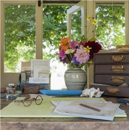 Inside Virginia Woolf's writing shed at Monk's House