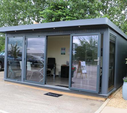 Hanley Plus bespoke garden office by Malvern Garden Buildings