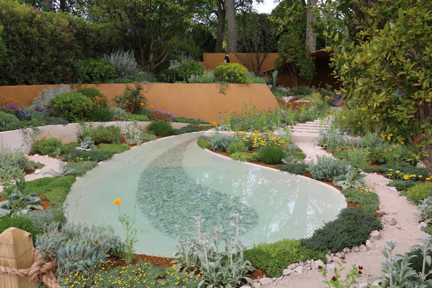 Flower display at Chelsea Flower Show 2019