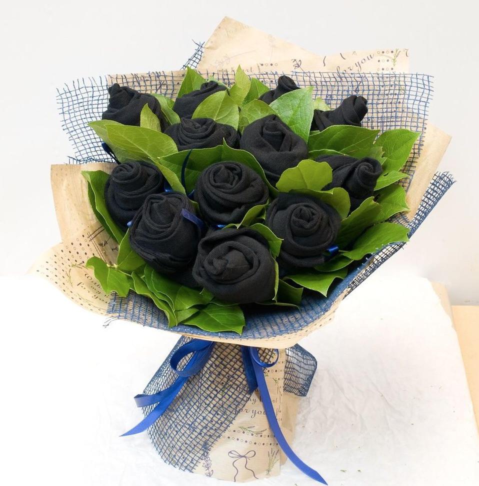 Sock flower bouquet