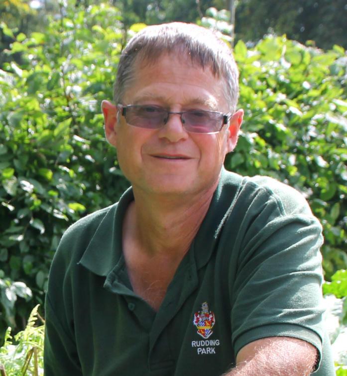 Adrian Reeve, Kitchen Gardener at Rudding Park. Dine alfresco in the Breeze House set in the garden