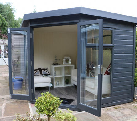 Studio Corner Deal Garden Office ex-display garden building available at Malvern Garden Buildings, Leek, Staffordshire